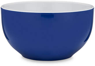 Q Squared Set of 4 Bistro Melamine Cereal Bowls - Blue