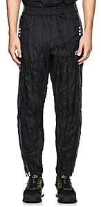 adidas by Alexander Wang Men's Crinkled Tech-Fabric Tear-Away Track Pants-Black