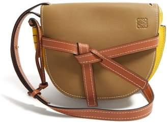 Loewe Gate Small Leather Cross Body Bag - Womens - Green Multi