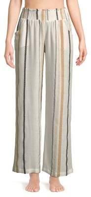 Elan International Striped Straight Leg Pants