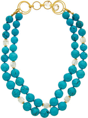 Bounkit 14K Layered Turquoise Necklace