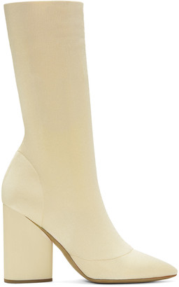 YEEZY Ivory Knit Ankle Boots $895 thestylecure.com