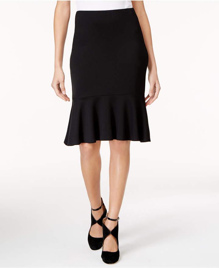Trina Turk Alina Ponte Knit Ruffled Skirt