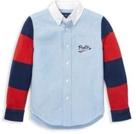 Ralph Lauren Little Boy's& Boy's Novelty Button-Down Shirt