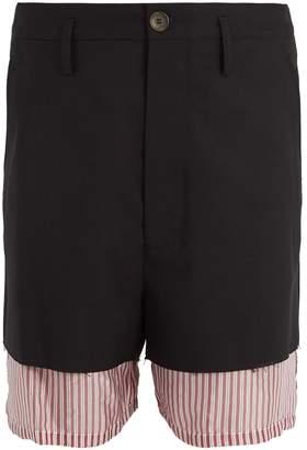 Marni Double-layered wool and satin shorts