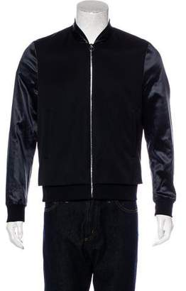 Paul Smith Satin-Trimmed Zip Jacket