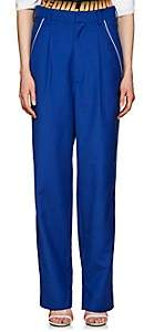 D-ANTIDOTE Women's Wool-Blend High-Rise Baggy Trousers - Blue