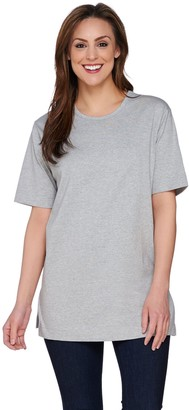 Denim & Co. Essentials Cotton Jersey Oversized Scoopneck Tee