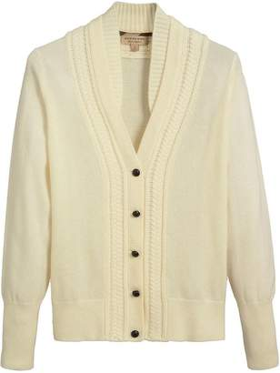 Burberry cable-knit insert cardigan