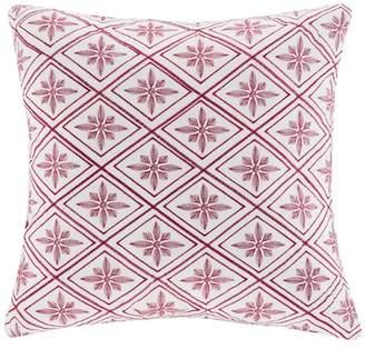 Natori N Cherry Blossom Geometric Square Pillow