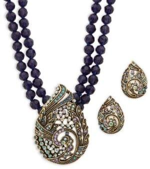 Heidi Daus Paisley Necklace & Earrings Set