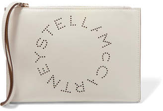 Stella McCartney Perforated Faux Leather Pouch - Beige