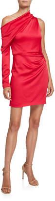 Cushnie Jersey Asymmetric One-Shoulder Dress