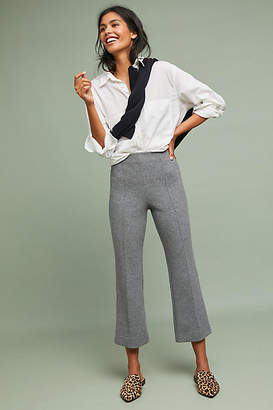 Cartonnier Double-Knit Cropped Flare Pants