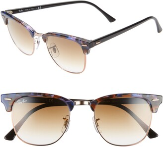 Ray-Ban Clubmaster 51mm Gradient Sunglasses