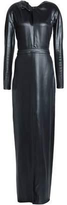 Nina Ricci Twisted Coated Crepe Gown