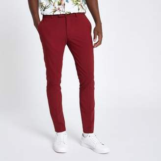 River Island Mens Red ultra skinny fit suit pants