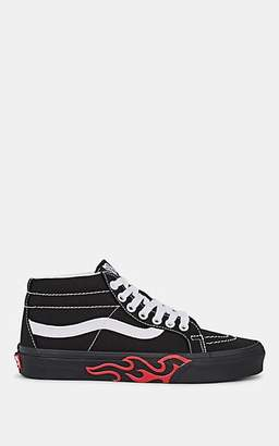 f012292159 Vans Women s Sk8-Mid Canvas Sneakers - Black