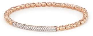 David Yurman Petite Pave Bracelet In 18K Rose Gold With Diamonds