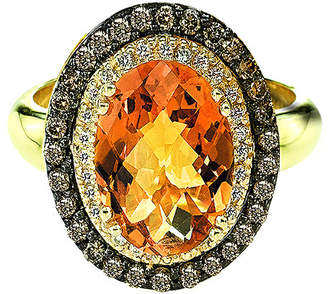 LeVian Le Vian 14K 3.26 Ct. Tw. Diamond & Citrine Ring