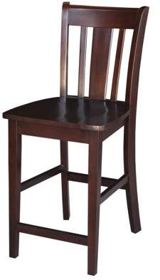 """INC International Concepts International Concepts San Remo 24"""" Counter-Height Stool, Rich Mocha"""