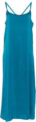Asceno Long Silk Slip Dress