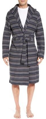 Men's Ugg 'Miles' Stripe Cotton Robe $125 thestylecure.com