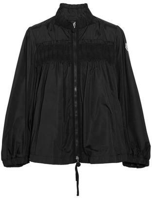 Moncler - Ruffled Shirred Shell Jacket - Black $950 thestylecure.com