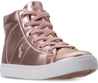 Polo Ralph Lauren Little Girls' Easten Mid Casual Sneakers from Finish Line