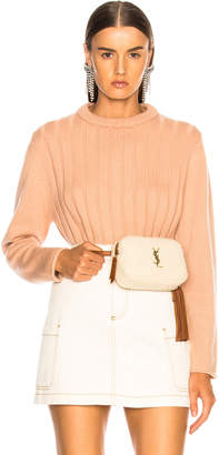 Chloé Iconic Cashmere Crewneck Sweater in Delicate Pink | FWRD