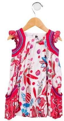 Catimini Girls' Printed Sleeveless Dress