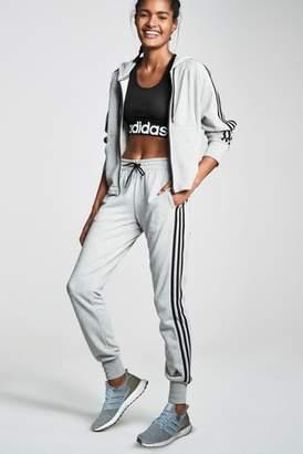 Next Womens adidas Grey Must Have 3 Stripe Zip Through Hoody