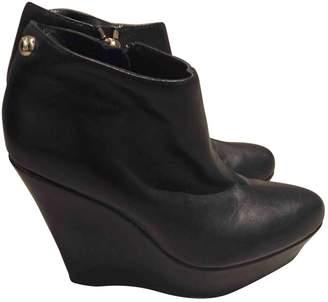 Patrizia Pepe Black Leather Ankle boots