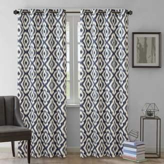 Andover Mills Wilson Cotton Ikat Semi-Sheer Grommet Single Curtain Panel