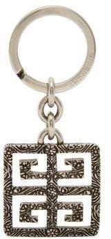 Givenchy 4g Logo Engraved Metal Keyring - Mens - Silver