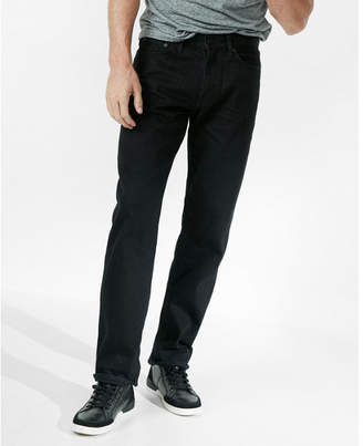 Express loose straight black 100% cotton jeans