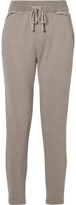 James Perse Cotton-blend Terry Track Pants - Stone