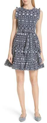 Kate Spade Eyelet Fit & Flare Dress