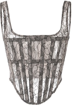 Dion Lee sheer lace corset