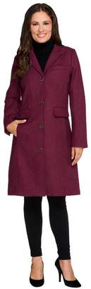 Isaac Mizrahi Live! Herringbone Chesterfield Coat