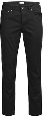 Jack and Jones Blocked Slim-Fit Jeans