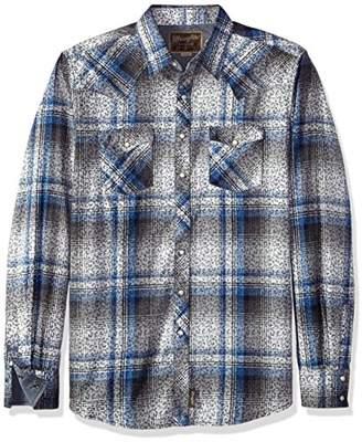 Wrangler Size Men's Retro Tall Two Pocket Long Sleeve Shirt