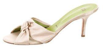 Vera Wang Satin Slide Sandals