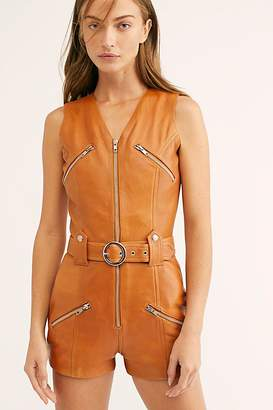 Understated Leather Moto Leather Romper