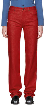 Calvin Klein Red Straight Jeans