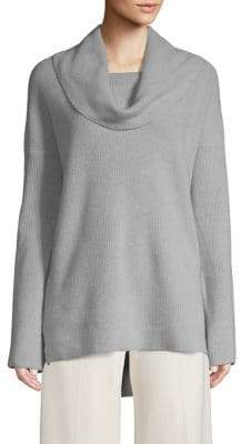 Lord & Taylor High-Low Cowl Neck Cashmere Sweater