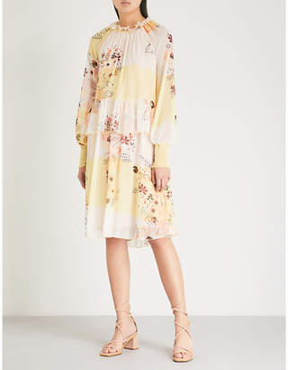 See by Chloe Waterflowers chiffon dress