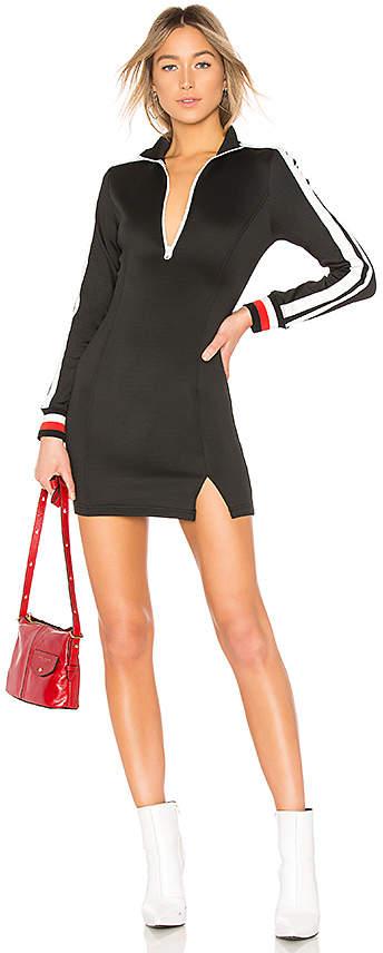 Sportstripe Mock Neck Dress