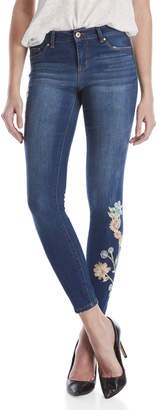 Jessica Simpson Kiss Me Embroidered Super Skinny Jeans