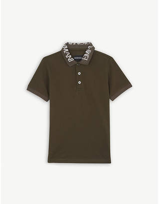 Emporio Armani Branded collar cotton polo shirt 4-16 years